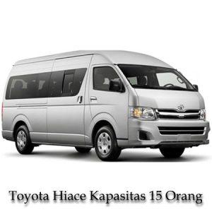 Sewa Mobil Toyota Hiace Kapasitas 15 Orang