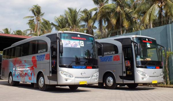 Bus Pariwisata Lombok Kapasitas 36 Sampai 45 Orang